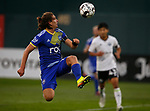 Reno 1868 FC's Emilio Ycaza competes against Tacoma Defiance FC in Reno, Nev., on Sept. 17, 2020. Reno locks in a playoff spot with their 3-2 victory.  <br />