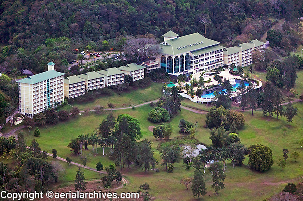 aerial photograph of the Gamboa Rainforest Resort, Soberania National Park near the Panama Canal, Panama