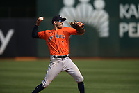OAKLAND, CA - SEPTEMBER 25:  Carlos Correa #1 of the Houston Astros makes a play at shortstop during the game against the Oakland Athletics at the Oakland Coliseum on Saturday, September 25, 2021 in Oakland, California. (Photo by Brad Mangin)