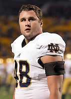Notre Dame linebacker Dan Fox. The Pittsburgh Panthers defeated the Notre Dame Fighting Irish 28-21 at Heinz Field, Pittsburgh, Pennsylvania on November 9, 2013.