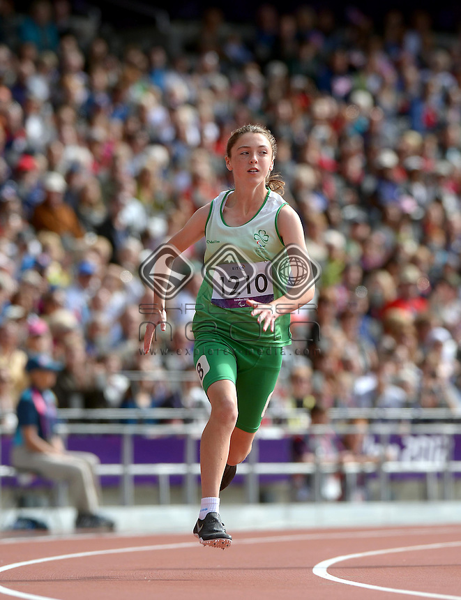 Heather Jameson (IRE)<br /> Athletics: Women's 200m T- 37<br /> Olympic Stadium (Wednesday 5  Sept)<br /> Paralympics - Summer / London 2012<br /> London England 29 Aug - 9 Sept <br /> © Sport the library / Jeff Crow