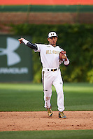 Gregory Veliz (0) of North Broward Prep in Key West, Florida during the Under Armour All-American Game on August 15, 2015 at Wrigley Field in Chicago, Illinois. (Mike Janes/Four Seam Images)