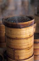 Asie/Singapour/Singapour: Seng Poh - Détail de paniers pour la cuicine vapeur