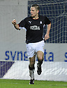 10/01/2009  Copyright Pic: James Stewart.File Name : sct_jspa21_falkirk_v_qots.GRAHAM BARRETT CELEBRATES AFTER HE SCORES FALKIRK'S THIRD.James Stewart Photo Agency 19 Carronlea Drive, Falkirk. FK2 8DN      Vat Reg No. 607 6932 25.Studio      : +44 (0)1324 611191 .Mobile      : +44 (0)7721 416997.E-mail  :  jim@jspa.co.uk.If you require further information then contact Jim Stewart on any of the numbers above.........
