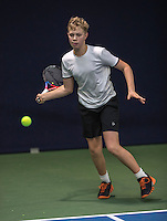 Hilversum, Netherlands, December 4, 2016, Winter Youth Circuit Masters, Bastiaan Weststrate (NED)<br /> Photo: Tennisimages/Henk Koster