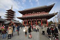 Sensoji Temple in central Tokyo, Japan. February, 2013