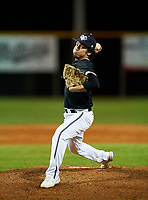 Riverview Rams pitcher Nick Garcia (7) during a game against the Sarasota Sailors on February 19, 2021 at Rams Baseball Complex in Sarasota, Florida. (Mike Janes/Four Seam Images)