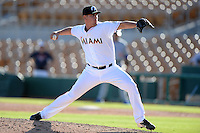 Glendale Desert Dogs pitcher Nick Wittgren (33), of the Miami Marlins organization, during an Arizona Fall League game against the Mesa Solar Sox on October 8, 2013 at Camelback Ranch Stadium in Glendale, Arizona.  The game ended in an 8-8 tie after 11 innings.  (Mike Janes/Four Seam Images)