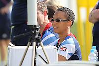 GB Coach Hope Powell looks on - Team GB Women training at Cardiff University, Cardiff, Wales - 27/07/12 - MANDATORY CREDIT: Gavin Ellis/SHEKICKS/TGSPHOTO - Self billing applies where appropriate - 0845 094 6026 - contact@tgsphoto.co.uk - NO UNPAID USE.