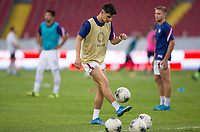 , MEXICO - : Sebastian Soto #19 of the United States warming up during a game between  and undefined at  on ,  in , Mexico.