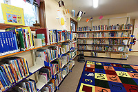 Books and games await young readers in the remodeled children's library area at Pea Ridge Community Library. Go to nwaonline.com/210408Daily/ to see more photos.<br />(NWA Democrat-Gazette/Flip Putthoff)