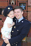 Attending the Garda graduations in Templemore on Thursday were  graduating Garda JDaryl Poynton, Blanchardstown with his daughter Lilly(3).<br />  Photograph Liam Burke/Press 22