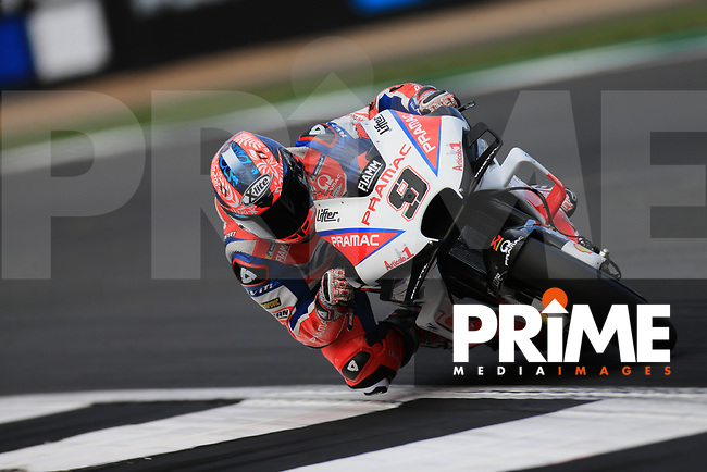 Danilo Petrucci (9) of the Alma Pramac Racing (Ducati) race team during the GoPro British MotoGP at Silverstone Circuit, Towcester, England on 26 August 2018. Photo by Chris Brown / PRiME Media Images
