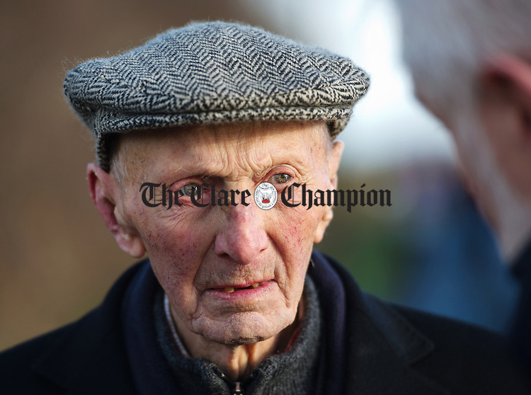 Ninety Four year old John O Connell was at the annual Christmas Day Swim In Gortglas lake. Photograph by John Kelly.