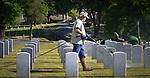 SALISBURY, NC 050521MB36—at the Salisbury National Cemetery in Salisbury, NC. <br /> Martin Begnal Republican American