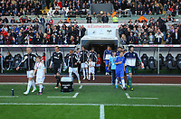 Saturday, 03 November 2012<br /> Pictured: <br /> Re: Barclays Premier League, Swansea City FC v Chelsea at the Liberty Stadium, south Wales.<br /> Garry Monk of Swansea (L) and Petr Cech of Chelsea (R)