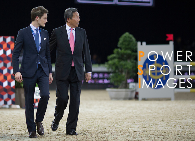 The HKJC Race of the Riders during the Longines Masters of Hong Kong on 19 February 2016 at the Asia World Expo in Hong Kong, China. Photo by Victor Fraile / Power Sport Images