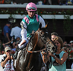 Flintshire (GB), ridden by Vincent Cheminaud and trained by Andre Fabre, wins the 41st running of the grade 1 Sword Dancer Invitational Handicap for older males on August 29, 2015 at Saratoga Race Course in Saratoga Springs (Sophie Shore/Eclipse Sportswire)