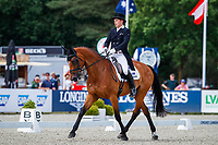 AUS-Sam Griffiths rides Paulank Brockagh during the Dressage for the Longines CCI5*-L. Interim-6th. The Longines Luhmuehlen International Horse Trials. Salzhausen, Germany. Friday 14 June. Copyright Photo: Libby Law Photography