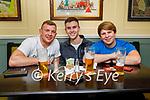 Enjoying the evening in the Brogue Inn on Thursday, l to r: Eddie Walsh (Currow), Joe McIntyre and Kalem Murray.