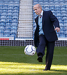 Even at 84 years Johnny Hubbard can still strike a sweet penalty kick