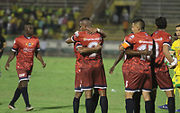 NEIVA - COLOMBIA, 17-02-2020.Celebración gol Fortaleza. Atlético Huila  y Fortaleza CEIF en partido por fecha 3 del Torneo BetPlay DIMAYOR I 2020 jugado en el estadio Guillermo Plazas Alcid de la ciudad de Neiva. /Atletico Huila and Fortaleza CEIF for the date 3 of the BetPlay DIMAYOR Tournament  I 2020 played at Guillermo Plazas Alcid stadium in Neiva city. Photo: VizzorImage / Sergio Reyes / Cont