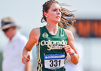May 23, 2013: Stephanie Gerber of Colorado State #331 prepares to compete in women's 400 meter hurdles first round event during NCAA Outdoor Track & Field Championships West Preliminary at Mike A. Myers Stadium in Austin, TX.