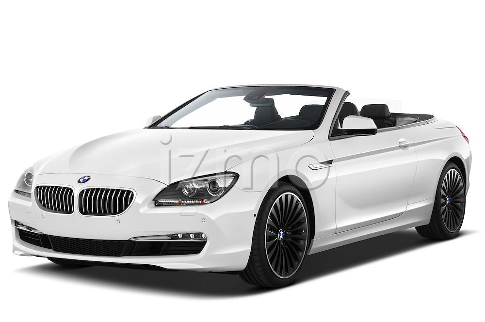 Front three quarter view of a 2010 BMW 6 Series 640i Convertible .