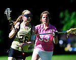 BERLIN, GERMANY - JUNE 21: Match of Helsinki Chieffetes (gold) vs Golden Girls (pink) during the Berlin Open Lacrosse Tournament 2013 at Stadion Lichterfelde on June 21, 2013 in Berlin, Germany. (Photo by Dirk Markgraf/www.265-images.com)