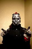 (#0) Sid Wilson – turntables, Slipknot Studio Portrait Session In Desmoines Iowa.Photo Credit: Eddie Malluk/Atlas Icons.com