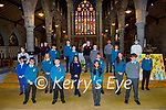 Moyderwell NS former students attending their Confirmation in St John's Church Tralee on Sunday. pictured with Maura Jones (Teacher) and Fr David McGovern.