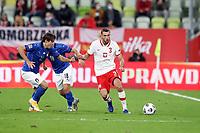 11th October 2020, The Stadion Energa Gdansk, Gdansk, Poland; UEFA Nations League football, Poland versus Italy; FEDERICO CHIESA challenges SEBASTIAN WALUKIEWICZ