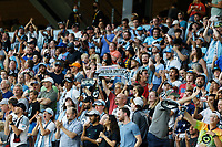SAINT PAUL, MN - JULY 3: Minnesota United FC Fans during a game between San Jose Earthquakes and Minnesota United FC at Allianz Field on July 3, 2021 in Saint Paul, Minnesota.