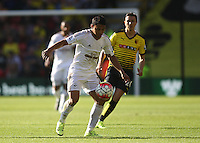 Jefferson Montero of Swansea   during the Barclays Premier League match Watford and Swansea   played at Vicarage Road Stadium , Watford