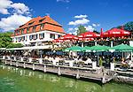 Germany, Bavaria, Upper Bavaria, Lake Starnberg, Berg: cafe, beer garden