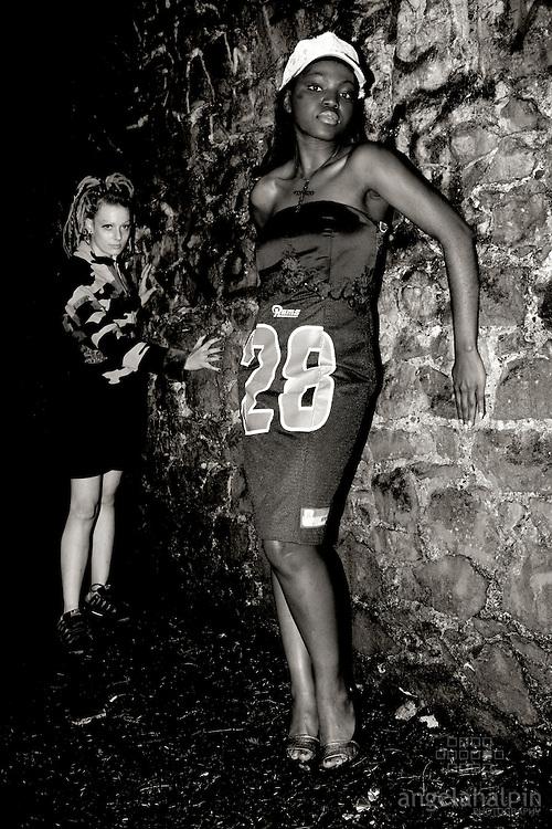 """Fashion Designer: Claire O'Connor.Photographer: Angela Halpin.Models: Sarah Hodson, Conny  Nauenburg, Hilary O""""Nolan & Lucrece Mougoue"""