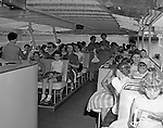 Pittsburgh PA:  Girl Scouts touring the Three Rivers on the new Gateway Clipper cruise line.  On May 17, 1958, the Gateway Clipper sailed from the Monongahela Wharf on the first chartered pleasure cruise on the three rivers.