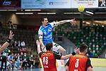 Nemanja Zelenovic (FAG) beim Spiel in der Handball Bundesliga, Frisch Auf Goeppingen - Fuechse Berlin.<br /> <br /> Foto © PIX-Sportfotos *** Foto ist honorarpflichtig! *** Auf Anfrage in hoeherer Qualitaet/Aufloesung. Belegexemplar erbeten. Veroeffentlichung ausschliesslich fuer journalistisch-publizistische Zwecke. For editorial use only.