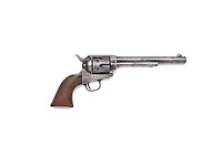 BNPS.co.uk (01202 558833)<br /> Pic: Bonhams/BNPS<br /> <br /> PICTURED: The gun used to kill Wild West outlaw Billy the Kid 140 years ago has emerged for sale for a staggering £2.2million.<br /> <br /> The notorious American fugitive was gunned down by Sheriff Pat Garrett at his ranch hideout in Fort Summer, New Mexico, in 1881.<br /> <br /> He had been on the run for two months following a violent prison break-out during which he killed two of the sheriff's deputies.