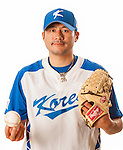 TAICHUNG, TAIWAN - FEBRUARY 27: J W Seo of Team Korea poses during WBC Photo Day at the Douliu Baseball Stadium on February 27, 2013 in Douliu, Taiwan. Photo by Victor Fraile / The Power of Sport Images