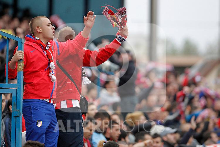 Atletico de Madrid's fans during La Liga match. April 27, 2013. (ALTERPHOTOS/Alvaro Hernandez)