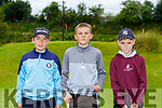 Brian McCarthy, Mark O'Carroll and Noah Sexton all Killarney playing in the Kerry U16 Pitch and Putt Strokeplay Championships in Deerpark on Saturday