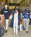 MIAMI, FL - JULY 15: (EXCLUSIVE COVERAGE) Garcelle Beauvais (C) is seen at Miami International Airport with her son Jaid Thomas Nilon and Jax Joseph Nilon on July 15, 2021 in Miami, Florida.  (Photo by Vallery Jean / jlnphotography.com )
