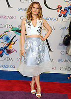 NEW YORK CITY, NY, USA - JUNE 02: Anna Chlumsky arrives at the 2014 CFDA Fashion Awards held at Alice Tully Hall, Lincoln Center on June 2, 2014 in New York City, New York, United States. (Photo by Celebrity Monitor)