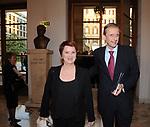PIERO FASSINO CON LA MOGLIE ANNA MARIA SERAFINI<br /> CELEBRAZIONE DEI 60 ANNI DELLO STATO D'ISRAELE TEATRO DELL'OPERA ROMA 2008