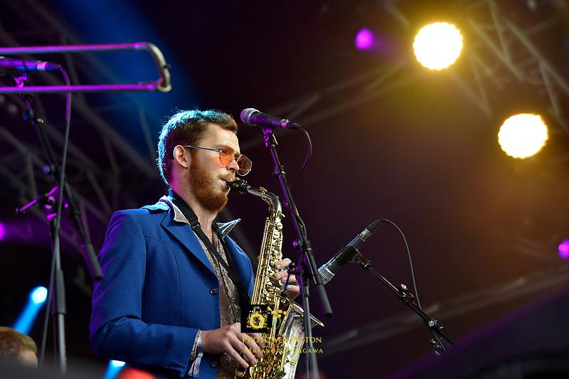Tunes Of I performing at Jim Beam Homegrown, Wellington Waterfront, New Zealand on Saturday 7 April 2018.<br /> Photo by Masanori Udagawa. <br /> www.photowellington.photoshelter.com