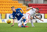 St Johnstone v Brechin….24.07.19      McDiarmid Park     Betfred Cup       <br />Kyle McClean and Kieran Inglis<br />Picture by Graeme Hart. <br />Copyright Perthshire Picture Agency<br />Tel: 01738 623350  Mobile: 07990 594431