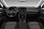 Stock photo of straight dashboard view of a 2017 Renault Koleos Zen 5 Door SUV