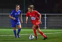 Woluwe's Selina Gijsbrechts (11) pictured during a female soccer game between  Racing Genk Ladies and White Star Woluwe on the seventh matchday of the 2020 - 2021 season of Belgian Scooore Womens Super League , friday 13 th of November 2020  in Genk , Belgium . PHOTO SPORTPIX.BE | SPP | DAVID CATRY