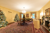 The Vermeil Room of the White House is decorated for the holiday season Monday, Nov. 26, 2018. (Official White House Photo by Andrea Hanks)
